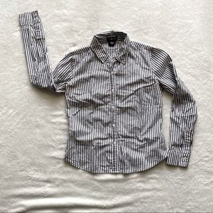 Timing Grey and White Button Up Long Sleeve